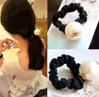 2014Newest Free shipping 10pcs/lot fashion lady big pearl hair ties