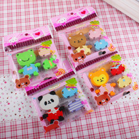 Korea stationery cartoon animal eraser primary school students in the prize birthday gift