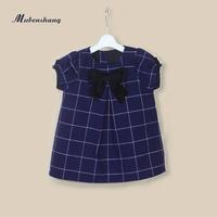 Children's clothing female child 2014 summer one-piece children short-sleeve 100% cotton  princess dress