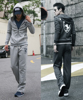 2014 new spring men's casual sweater hooded track suit jacket and sweater