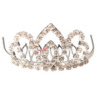 Free Shipping New Medium headband tiara style Hair Accessories Wedding Bridal Rhinestone Crown Hair Comb Pin 16004561