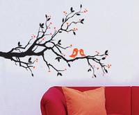 Free shipping!!  JM7051 flower wall sticker tree birds wall stickers china