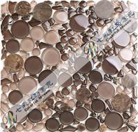 [Colorful Mosaic]2014 New Arrival Wholesale/Retail/Dropshipping Irregular Crystal Glass Mosaic Tile, Free Design/QA073