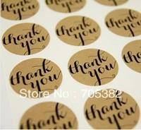 THANK YOU Kraft Sticker Labels Seals.Diameter 3.8cm (SS-7033)