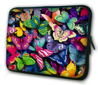 """Hot  color butterfly  7 ''inch Universal Waterproof Zipped Soft Neoprene Sleeve Bag Case Cover Pouch For 7""""- 8.2"""" Tablet PC bag"""