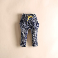 Wholesale 6pcs/lot Causal Boys / Girls Harem Pants Geometry Pattern Children Long Pants