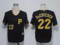 Pittsburgh Pirates Jersey #22 Andrew McCutchen Black Cool Base Baseball Jersey Embroidery Logos,Accept Mix Orders