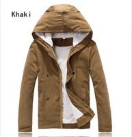 Free Shipping Winter Jackets For Men Splice Wool Jacket men's slim fit Windproof Outerwear Warm Mens Coat Winter Overcoat