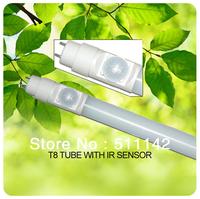 IR Sensor T8 tube 1200mm SMD2835 96pcs leds idea for car park garage 50pcs/lot  cheap price Fedex free shipping