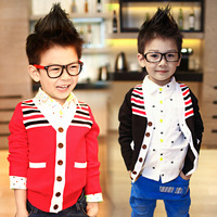 free shipping children's clothing boys sweater v-neck kid outwears good quality small kid to big kid size