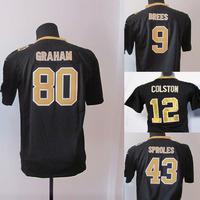 2014  Kids/Youth American Football Jerseys, Elite rugby player Jersey ,black jerseys  Wholesale Original Quality Size S-XL