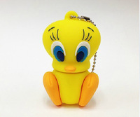 Retail genuine 2G/4G/8G/16G/32G Tweety Bird style flash drive silicone usb flash drive 5pcs/lot