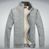 AFSJEEP new2014 Warm lambs wool Collar cardigan pullovers man sweater cardigan men Wholesale and retail Free shipping m L XL XXL