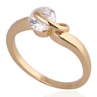 CZ Fashion Jewelry 18K Gold Plated Heart Wedding Ring Mix $10 Free Shipping