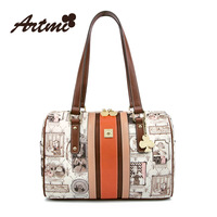 Fashion square artmi 2014 vintage print women's trend fashion handbag one shoulder bag free shipping wholesales