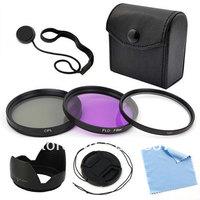 5-Pack 62mm Filter Set Lens cap Lens Hood For Canon EOS Rebel SL1 T5i T4i T3i 6D Free shipping