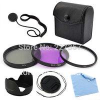 5-Pack 77mm Filter Set  UV CPl Ld Filters Lens cap Lens Hood For Canon EOS Rebel SL1 T5i T4i T3i 6D Free shipping