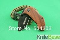 Boker DA33 folding knife 440C 56HRC steel shank handle black face the mini Pocket knives Tactical Knife free shipping 5pcs/lot