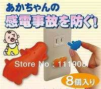 LOVELY cartoon two-phase electrical socket outlet stopper as wall socket protective plug for baby safety prevent electric shock.