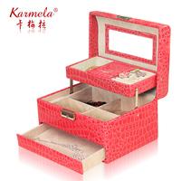 Quality jewelry storage box Large fashion princess dressing box wedding gifts
