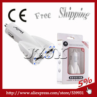 Free Shipping! Car adapter  Car Charger USB car mobile phone charger car usb interface converter