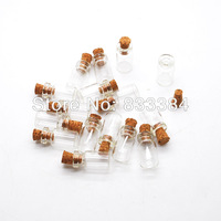 New 100pcs 0.5ml Vials Clear Glass Bottles with Corks Empty Sample Jars Small size: 10*18*5mm