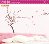 Free shipping Wall Decal Stickers Removable Wallpaper,Room Sticker House Sticker DIY Butterfly orchid flower JM7138