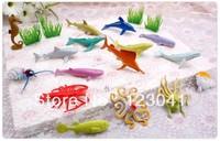 Free shipping 16pcs/set Sea Life Animal Model Toys Children's Play house Simulation Games Toys