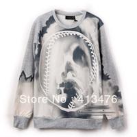 New Runway looks  2013 men's  ink brand Long sleeve crew neck medusa gray Outerwear hoodies hoody jacket Sweatshirts sweater tag