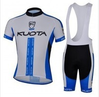 2014 KUOTA blue cycling clothing short sleeve bike bicycle Cycling wear jersey +BIB shorts sets