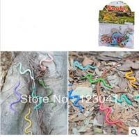 Hot selling Original PVC Simulation Snake 12pcs/set Model Animal Simulation Model Snake for Children's Gift