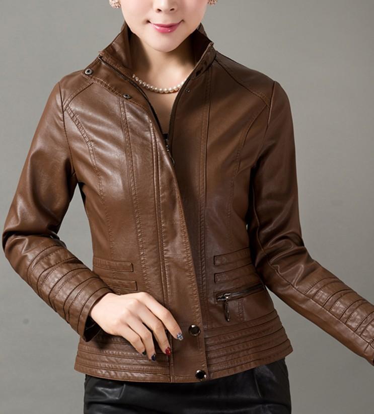 Купить Куртку Женскую Весна Осень  Кожаную