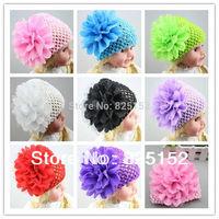 Free Shipping 1pc Newborn Baby Girls Toddler Infant Hair Flower Hat Cap Bonnet Beanie Accessories