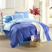 Hot sale! fabric pure/plain color cotton 4pcs bedding set,bed set, twin king queen size bed linen/bedclothes/home textile