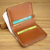Handmade wallet male cowhide short wallet design genuine leather small card holder lychee wallet women bag