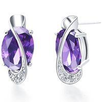Free shipping, cubic zirconia diamond crystal earrings, 925 sterling silver ear clip, women jewelry, jewelry wholesale R270