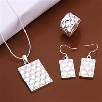 Fashion 925 set Necklace&Bracelet&Earring Pineapple stripe Wholesale New arrival 2014 Hot sale!!! jewelry set Sterling  S414
