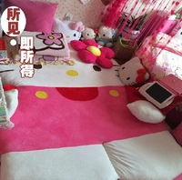 NEW 2.0*2.5m Pink HelloKitty Double Bed jacket/hello kitty Sleeping Bag Cartoon Sofa Tatami mattress,FREE SHIPPING