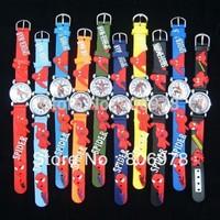 Free Shipping 3D Cartoon Lovely Kids Girls Boys Children Students Spiderman Quartz Wrist Watch Very Popular