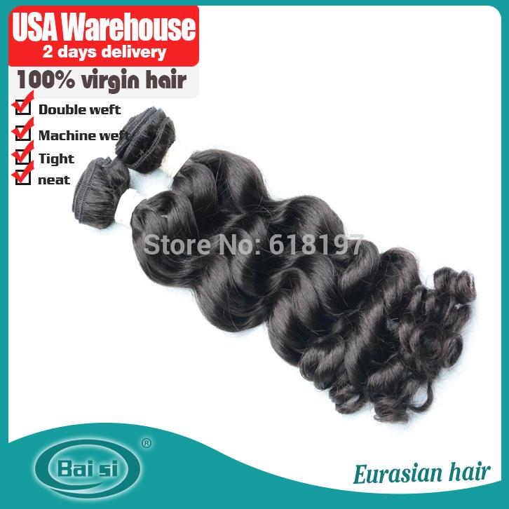 2014 nuevo estilo del pelo humano eurasian de onda floja 8''- 22'', pcs 3/un montón, puede ser teñido, virgen de pelo eurasian gastos de envío gratis