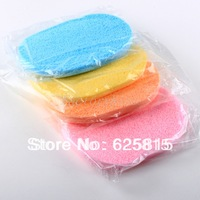 Free Shipping 4 Pcs Soft Facial Large Round Face Sponge Makeup Cosmetic Powder Puff 10-662
