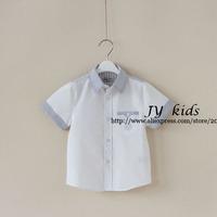 Boutique boys shirts white summer shirt short sleeve top children clothing boys clothing
