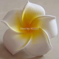 6CM,artificial floral foam eva hawaiian plumeria frangipani flower,diy craft for hair clip accessories&wedding party decorations