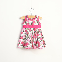 Wholesale 5pcs/lot two color beautiful summer baby girls dress kids clothes