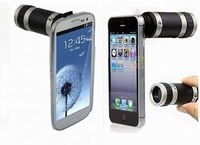 Brand New Optical 8x Zoom Telescope Camera Lens Case Kit for iPhone 5S / 5 / 4s / 4 and Galaxy S3 ,S4