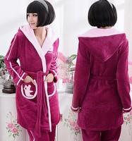 Free Shipping,Women Elegant Princess Sleepwear set,Thick Flannel,Winter Sleeping Set,(M-XL),Warm Night Sleepwear Set