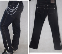 Girl country. The new 2014 men jeans. Fashion haroun pants. Rivet straight jeans bigger sizes of cultivate one's morality