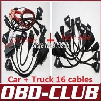 para AUTOCOM CDP cables Pro Car + Truck cables 16pcs(China (Mainland