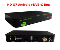 3pcs / lot  DVB-C HD Q5 cable tv receiver with network sharing cccam newcamd mgcamd  multi CAS  conax