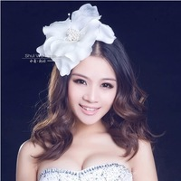 Free Shipping! Fashion 3 Colors Bridal Beaded Big Hair Flower Wedding Hair Accessories Jewelry For Woman Decroation TH308